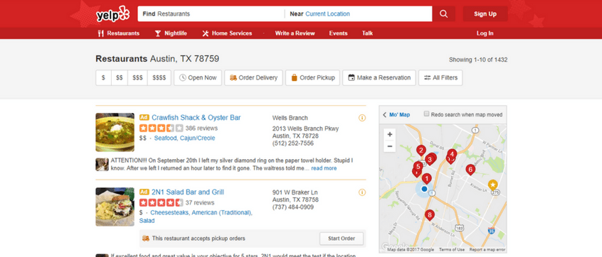 Yelp Questions Answered
