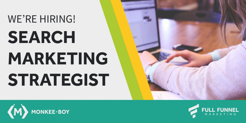 Search Marketing Strategist Hiring Graphic